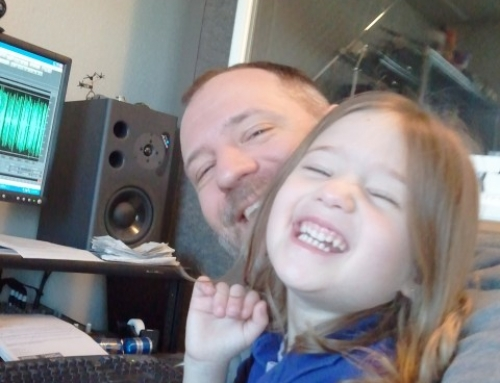 Emma & Marc hangin' in the studio